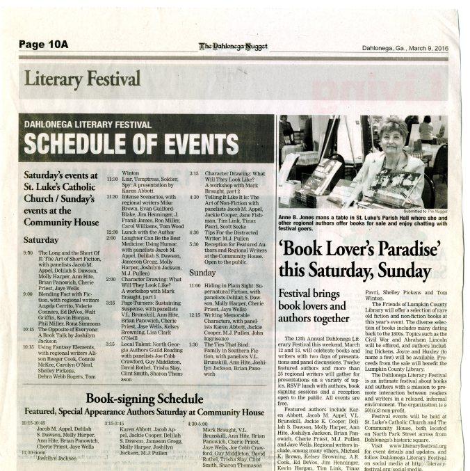 9Mar2016 Literary Festival