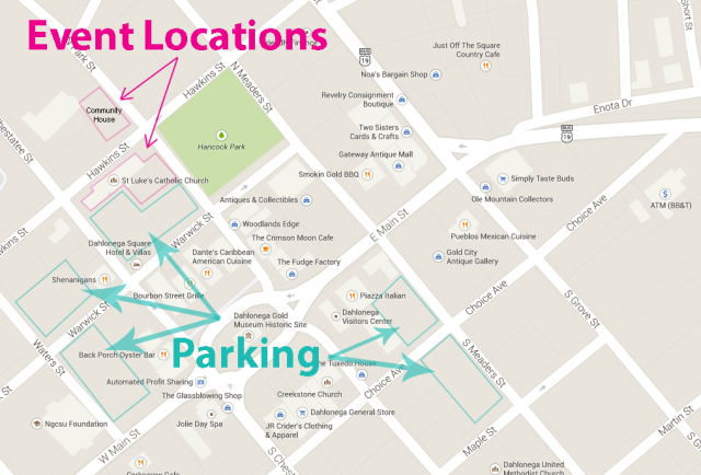 dLF event and parkingmap