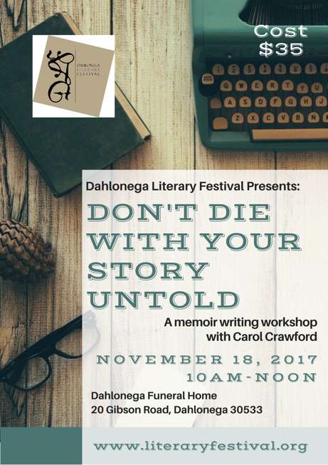 MEMOIR WRITING WORKSHOP 2018